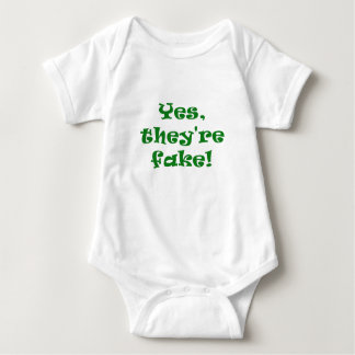 Yes They're Fake Baby Bodysuit