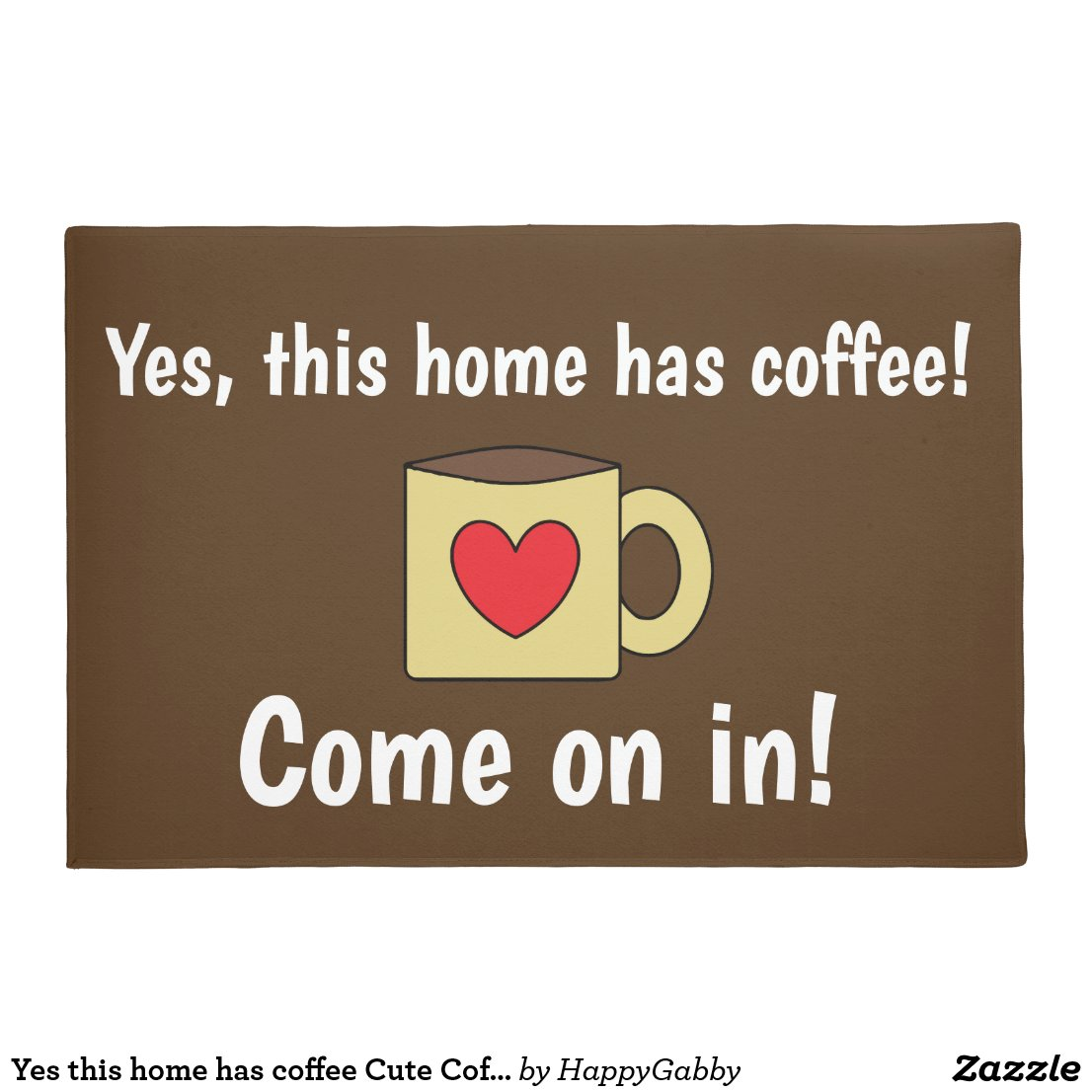 Cute Coffee Lovers Doormat
