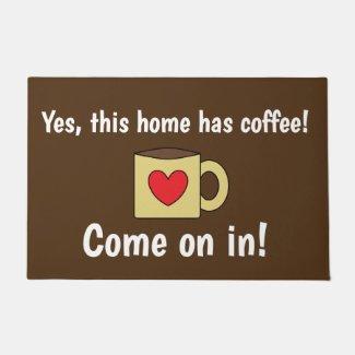 Cute Coffee Lovers Doormat