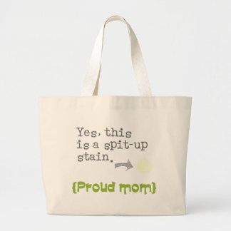 Yes, this is a spit-up stain {proud mom/dad} bolsas de mano