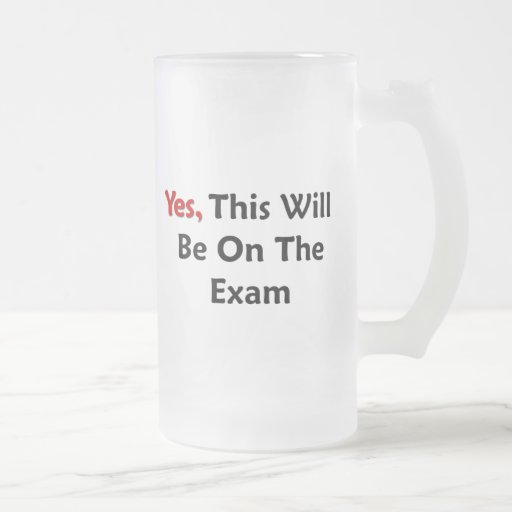 Yes, This Will Be On The Exam 16 Oz Frosted Glass Beer Mug