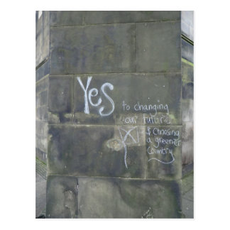 Yes to Freedom AND a Greener Country Postcard