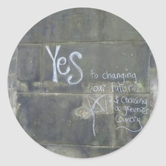 Yes to Freedom AND a Greener Country Round Sticker