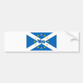 Yes to Independent European Scotland Bumper Sticker
