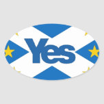 Yes to Independent European Scotland Oval Sticker
