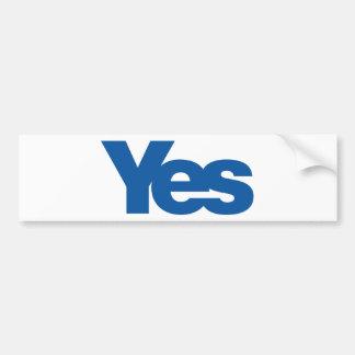 Yes to Independent Scotland Bumper Sticker