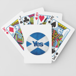 Yes to Independent Scotland 'Saor Alba Go Bragh' Bicycle Playing Cards