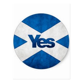 Yes to Independent Scotland 'Saor Alba Go Bragh' Postcard