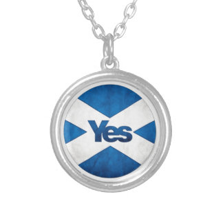 Yes to Independent Scotland 'Saor Alba Go Bragh' Silver Plated Necklace