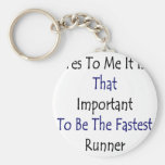 Yes To Me It Is That Important To Be The Fastest R Key Chains