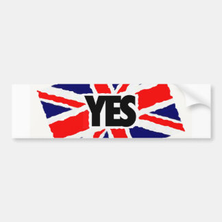 YES to the English. Bumper Sticker