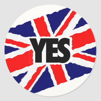 YES to the English. Classic Round Sticker