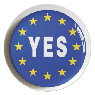 Yes to the EU - Stay in the European Union Dinner Plate