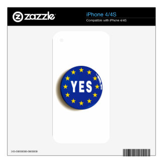 Yes to the EU - Stay in the European Union iPhone 4 Skins