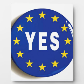 Yes to the EU - Stay in the European Union Plaque