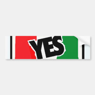 Yes to the Italians. Bumper Sticker