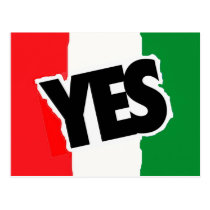 Yes to the Italians. Postcard