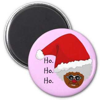 Yes, Virginia, There is a Black Santa Claus 2 Inch Round Magnet
