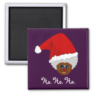 Yes, Virginia, There is a Black Santa Claus 2 Inch Square Magnet