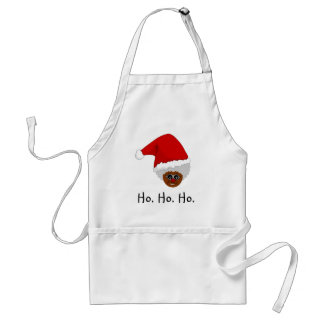 Yes, Virginia, There is a Black Santa Claus Adult Apron