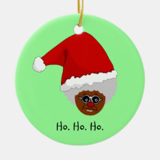 Yes, Virginia, There Is A Black Santa Claus Ceramic Ornament at Zazzle