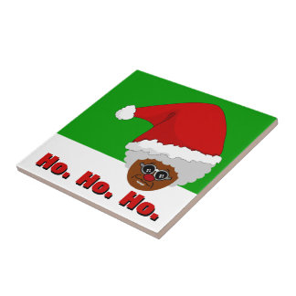 Yes, Virginia, There is a Black Santa Claus Ceramic Tile