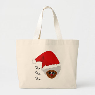 Yes, Virginia, There is a Black Santa Claus Large Tote Bag
