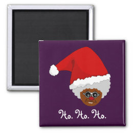Yes, Virginia, There is a Black Santa Claus Magnet