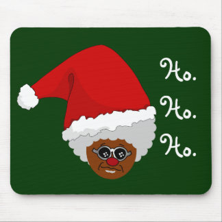 Yes, Virginia, There is a Black Santa Claus Mouse Pad