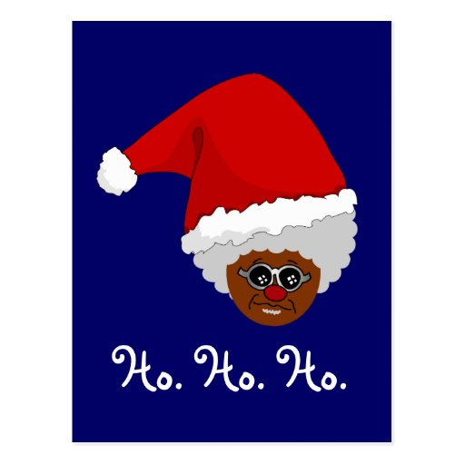 Yes, Virginia, There is a Black Santa Claus Postcard