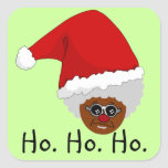 Yes, Virginia, There is a Black Santa Claus Square Stickers