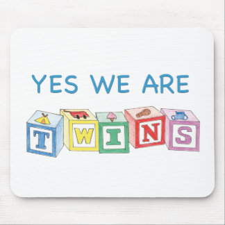 Yes we are twins blocks mouse pad