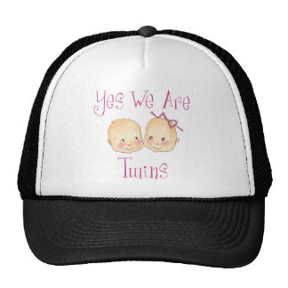 Yes we are twins - Boy Girl Pink Hats
