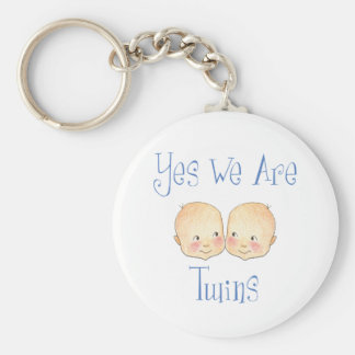 Yes we are twins - Boys Keychain