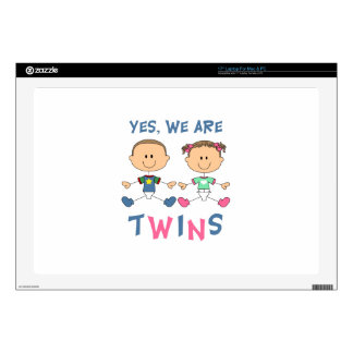 YES WE ARE TWINS SKIN FOR LAPTOP