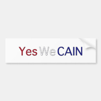 Yes We Cain Car Bumper Sticker