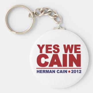 Yes We Cain Herman Cain 2012 Keychain
