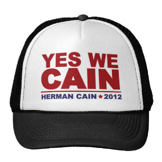 Yes We Cain Herman Cain 2012 Trucker Hat