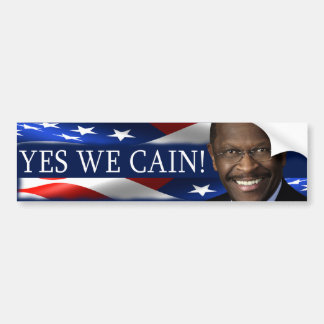 Yes We Cain! Herman Cain Bumper Sticker