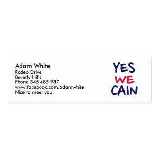Yes we Cain Mini Business Card