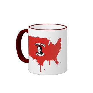 Yes We Cain Ringer Coffee Mug