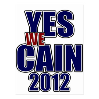 Yes we CAIN Postcard
