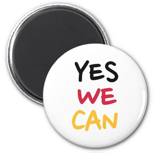 Yes we can 2 inch round magnet