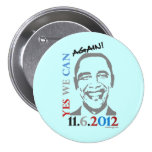 Yes We Can AGAIN Oama 2012 Campaign Button