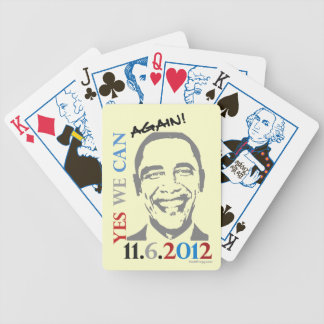 Yes We Can Again Obama 2012 Playing Cards
