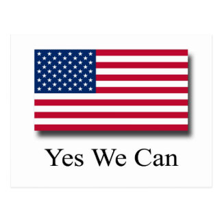 Yes We Can - American Flag Postcard