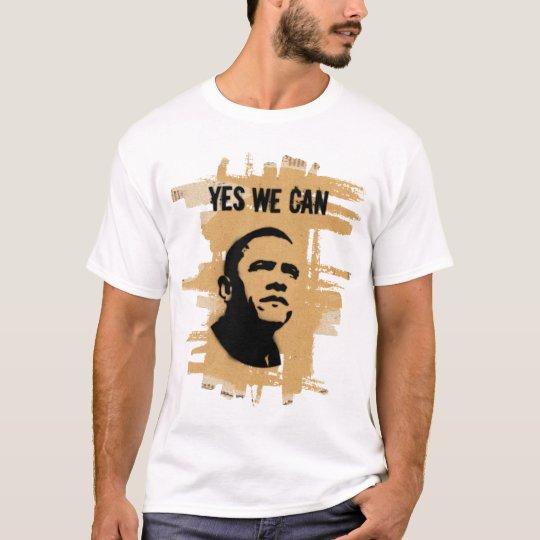 YES WE CAN (both sides) Cardboard stencil W T-Shirt