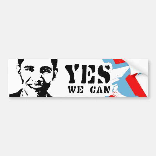YES WE CAN BUMPER STICKER