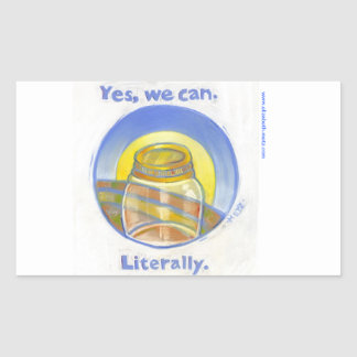 """Yes, we can"" canning label"