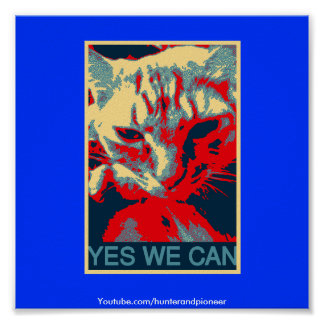 Yes we can cat poster